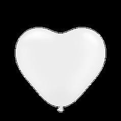 """Сердце 12"""" KALISAN-КЛ пастель белый"""