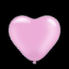 """Сердце 12"""" KALISAN-КЛ пастель розовый"""