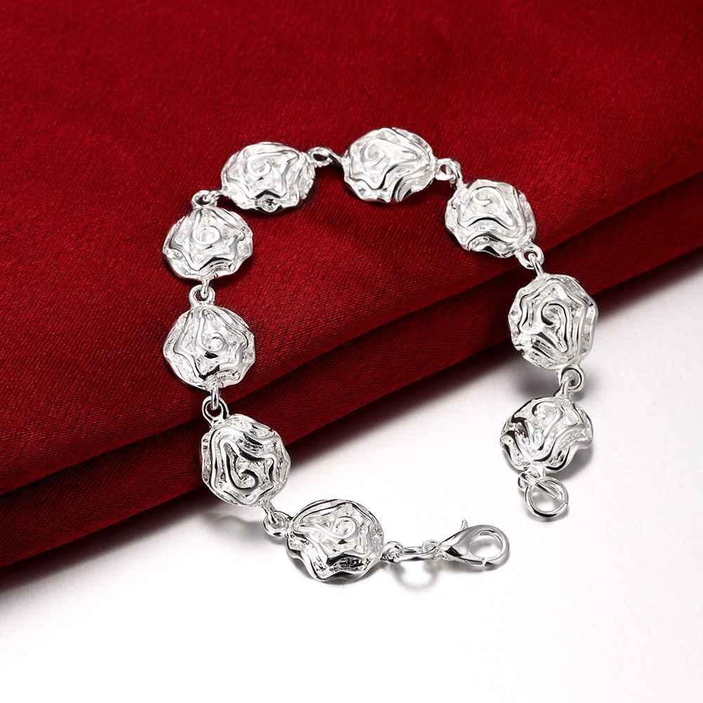 Браслет ручной женский Нежный цветок покрытие стерлинговое серебро
