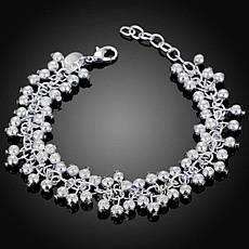 """Красивый женский браслет на руку покрытие серебро 925 """"Матовые гроздья"""", фото 3"""