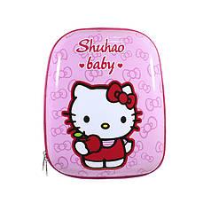 Дитячий рюкзак Hello Kitty Lesko DB-02 Pink кіті з принтом