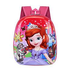 Дитячий рюкзак Lesko DK-13 Sofia Софія Прекрасна з твердим корпусом принтом