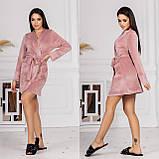 Женский велюровый халат 15-772, фото 4