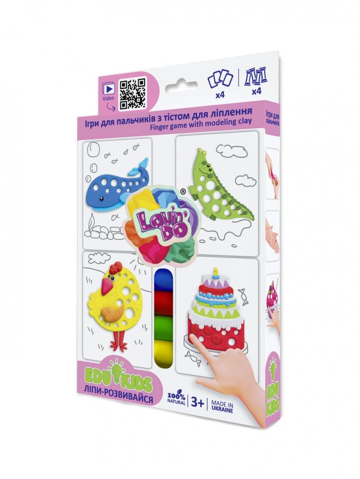 Набір тіста для ліплення TM Lovin'Do Edu kids Ігри для пальчиків 2 41043