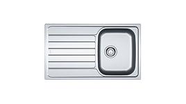 Мойка металическая FRANKE SKX 611, 860*500 с сифоном, 101.0331.024 накладная (к шкафчику 45 см)