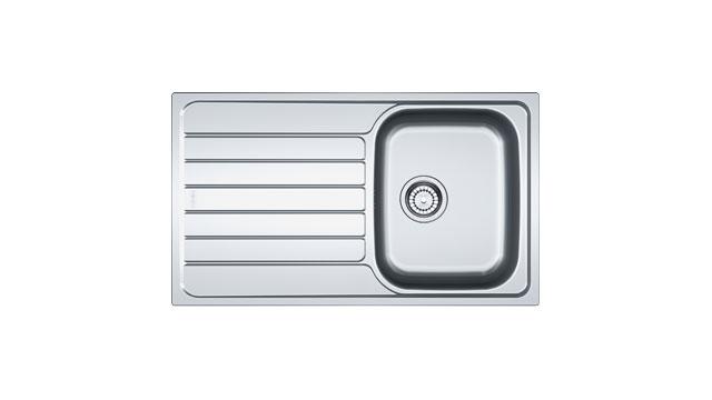 Мийка керамогранітна FRANKE SKX 611, 860*500 з сифоном, 101.0331.024 накладна (до шафки 45 см), фото 2