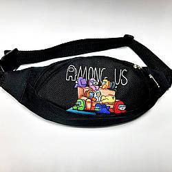 Поясная детская сумка бананка AMONG US