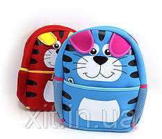 Маленький детский рюкзак Кот. Детский рюкзак в садик. Рюкзак для садика.