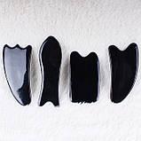 Скребок ГуаШа Маечка/Зайчик, черная смола, фото 2