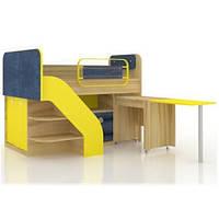 Кровать Джинс комбинированная со столом