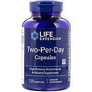 Мультивитамины Дважды в День, Two-Per-Day, Life Extension, 120 капсул