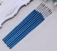 Кисточка синтетика круглая №1 Neo Line для акриловых и масляных красок