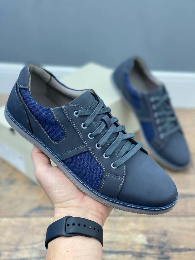 Туфли мужские 8 пар в ящике синего цвета 40-45, фото 2