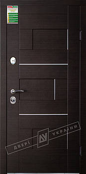 Входные двери ТМ Двери Украины серии БС модель Куб (комплектация KALE)