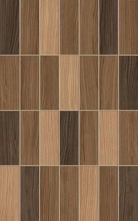 Плитка настенная Карелия мозайка коричневая
