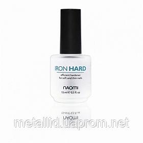 Базовое покрытие укрепляющее для тонких слоящихся ногтей Naomi Iron Hard, 15 мл