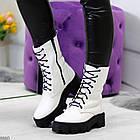 Демисезонные женские белые ботинки, натуральная кожа, фото 2