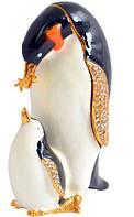 Шкатулка ювелирная Пингвин
