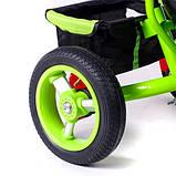 Дитячий триколісний велосипед коляска Baby Trike 6588 з ігровою панеллю і ключем запалювання помаранчевий, фото 3