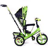 Дитячий триколісний велосипед коляска Baby Trike 6588 з ігровою панеллю і ключем запалювання помаранчевий, фото 5
