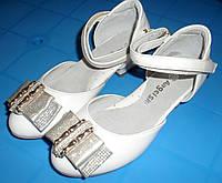 Туфельки на каблучке с бантом в стразах