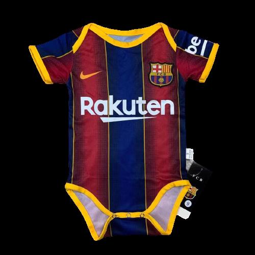 Дитячий бодік фк Барселона гранатовий короткий рукав