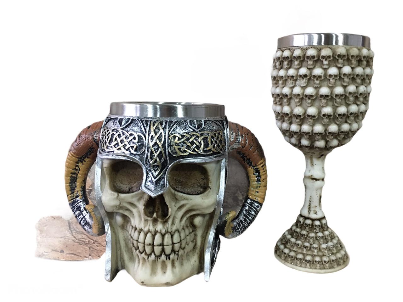Подарочный Набор Кружка Чашка Бокал 3D Сатан Черепа Вокруг Большие Подарок
