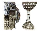 Подарочный Набор Кружка Чашка Бокал 3D Сатан Черепа Вокруг Большие Подарок, фото 2