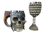 Подарочный Набор Кружка Чашка Бокал 3D Сатан Черепа Вокруг Большие Подарок, фото 3