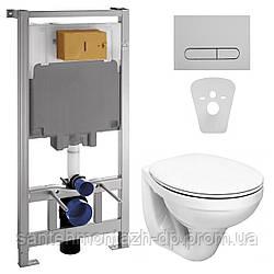 Комплект: IDOL унитаз подвесной сиденье мягкое + VOLLE MASTER комплект инсталляции 4в1, хром (укр.)