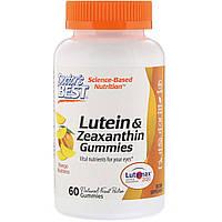 Зеаксантин и Лютеин, Lutein & Zeaxanthin, Doctor's Best, вкус манго, 60 желейных конфет