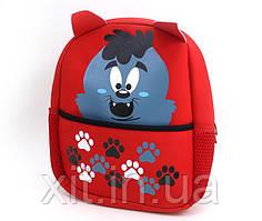 Маленький детский рюкзак Волк. Детский рюкзак в садик. Рюкзак для садика.