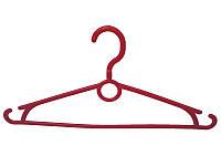 Красные вешалки плечики 40см из пластика для одежды с вращающимся крючком