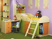 Кровать Фруттис комбинированная со столом, фото 1