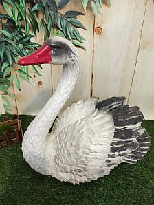 Садовая фигура Лебедь серый 38 см