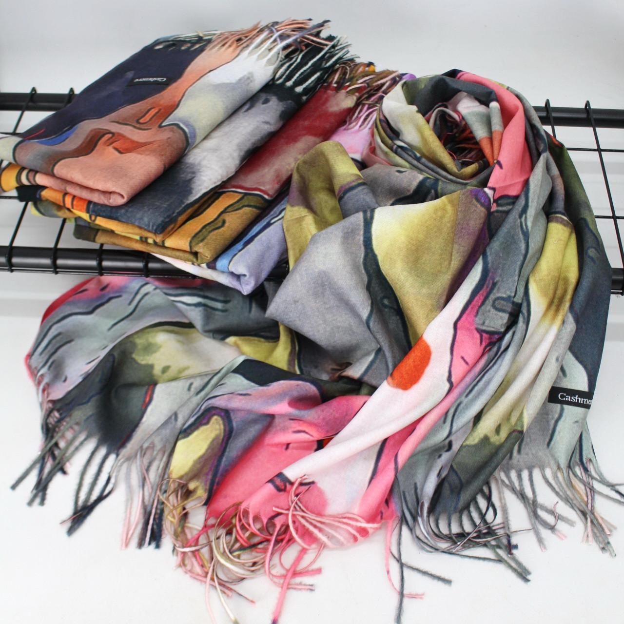 Кашемировый теплый платок Cashmere 215005