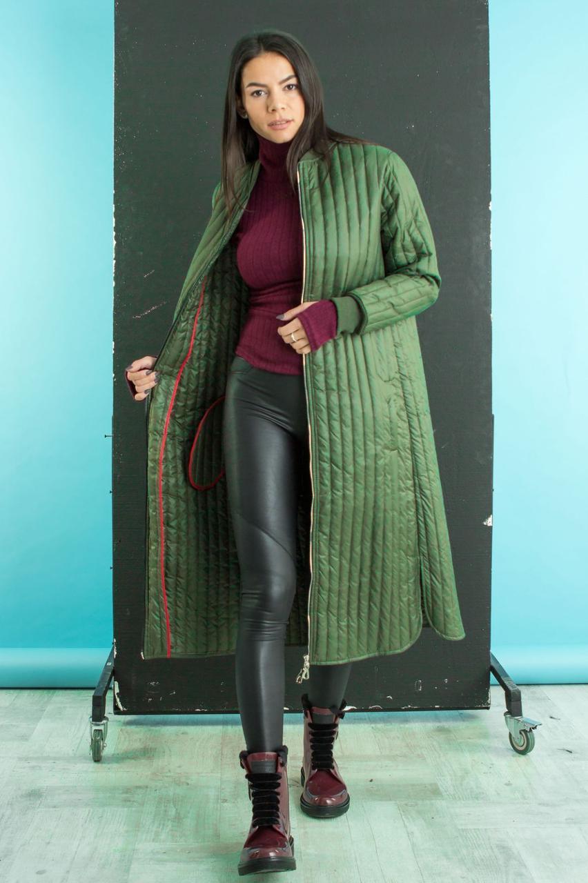Подовжене стильне пальто на весну (42-48)