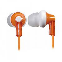 Навушники вакуумні провідні без мікрофона Panasonic RP-HJE118GU-D Orange