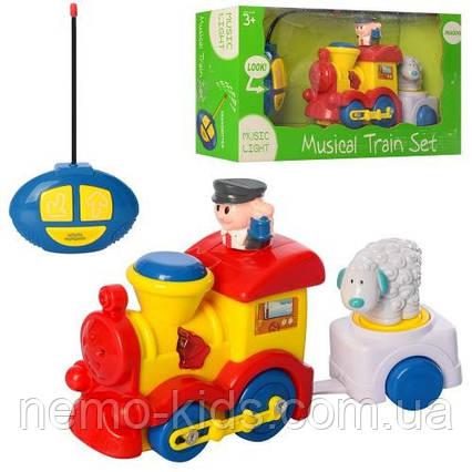 Паровозик на радиоуправлении поезд паровоз для малышей