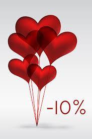 Знижка до Дня закоханних в розмірі 10% на все взуття