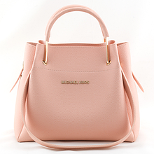Женская mini сумка-шоппер Mісhаеl Коrs цвет пудра, розовая (в стиле Майкл Корс) с отстёгивающейся косметичкой