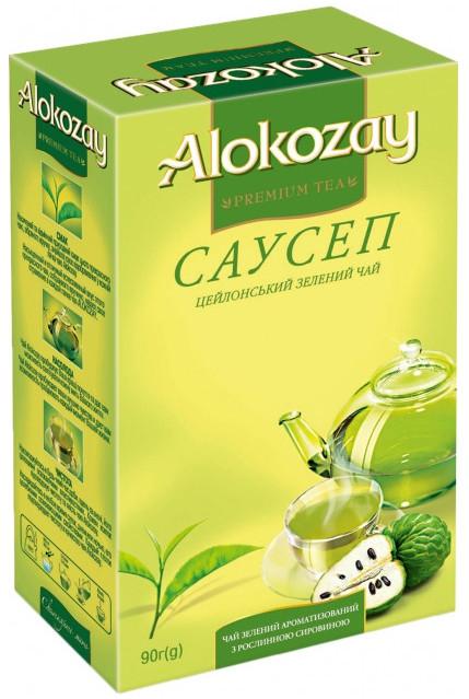 Чай листовой Алокозай зеленый с саусепом 90 грамм