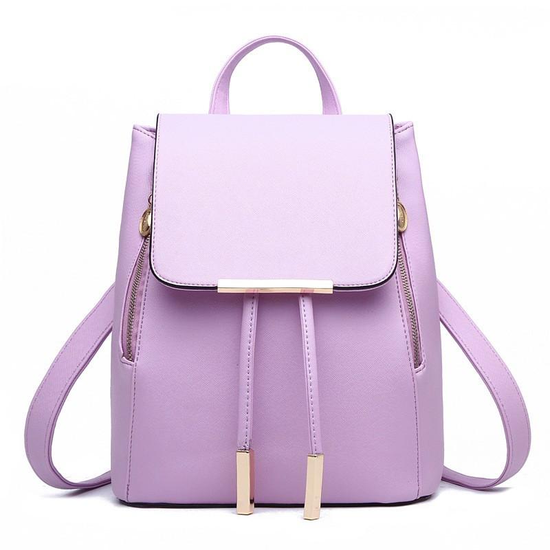 Рюкзак женский стильный, сиреневый ( код: IBR007F )