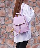 Рюкзак женский стильный, сиреневый ( код: IBR007F ), фото 3