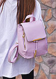 Рюкзак женский стильный, сиреневый ( код: IBR007F ), фото 4