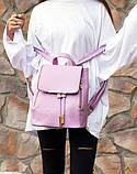 Рюкзак женский стильный, сиреневый ( код: IBR007F ), фото 5