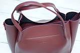 Женская сумка Guess (Гесс), бордовая ( код: IBG162KR ), фото 2