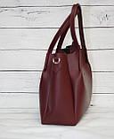 Женская сумка Guess (Гесс), бордовая ( код: IBG162KR ), фото 4