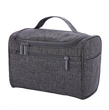 Дорожная косметичка, несессер, сумка-органайзер для косметики, серая ( код: IBH021S )