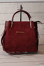 Женская замшевая mini сумка Mісhаеl Коrs (в стиле Майкл Корс), цвет марсала